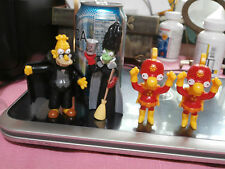 Lot of 4 The Simpsons Figures Fast Food Halloween