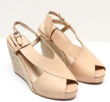 6d1efdfebd2 3.1 PHILLIP LIM Tan Cream Leather Espadrille Wedges Peep Toe Size 6