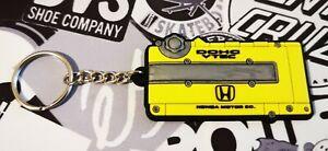 Honda Type R New Style Rocker Key Anello Yellow Vtec K20 VTI B18C