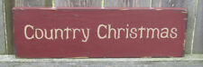 "PRIMITIVE  COUNTRY  CHRISTMAS  12""  SIGN"