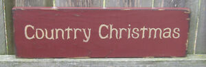 """PRIMITIVE  COUNTRY  CHRISTMAS  12""""  SIGN"""