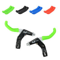 1pair Mountain Bike Bicycle Handle Bar Grip Brake Lever Silicone Cover Protecto