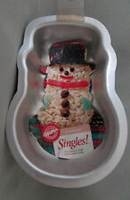 Holiday Snowman Singles Muffin Cake Brownies Treat Pan Wilton 1125 Instructions