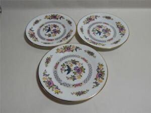 Aynsley 3 x Capistrano Side Plates. Bone China. made in England
