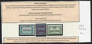 Hungary 1919 3 stamps Mi# Military Occupation MNH