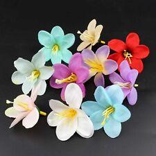 20Pcs 6cm Artificial Fake Lily Silk Flower Head Wedding DIY Home Garden Decor