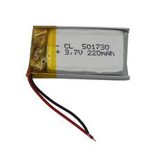 3.7V 220 mAh Rechargeable Li-Polymer Li ion battery for Bluetooth pen GPS 501730