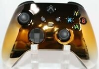 Microsoft Xbox One Series X/S Modded Controller-Chrome Black/Gold/Silver-Red LED