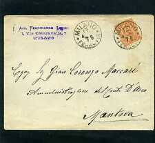 KING HUMBERTO  ''KINGDON OF ITALY cover MILANO TO MANTOVA 1870s