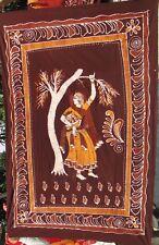 Femme indienne Batik Fait main Tenture ethnique Couvre-lit Hippie Boho Inde F45