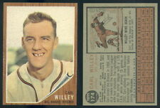 (41554) 1962 Topps 174 Carl Willey No Cap Braves-EM