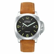 Men's Luminor Marina HOMAGE Watch Automatic Mechanical Leather Band Luminous GMT