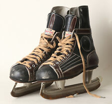 Old Men's Ice Skates Gold Cut Leather Size 46, Rust An Runners (163397)