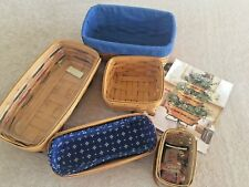 5 Vintage Longaberger Baskets, Liners, and Protectors, Collectibles, Signed