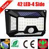 42 LED Solar Power Motion Sensor Garden Security Lamp Waterproof Wall Light Yard