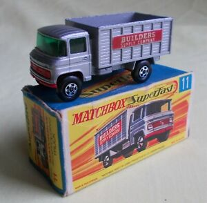 MATCHBOX MB11A MERCEDES SCAFFOLDING TRUCK 'BUILDER'S SUPPLY COMPANY' 1970 BOXED
