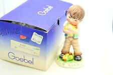 "VTG Goebel Lore's Lore Kinderland 11-281-12 ""All Mine"" Boy & Apples 1978 & Box"