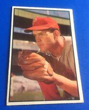 1953 Bowman Color Robin Roberts Philadelphia Phillies #65 Baseball Card VG