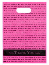 Plastic Bags, Thank You  Grocery Carry Shopping 50cnt 9x12 Hot Pink W/ Handle