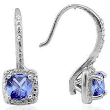 Ohrringe/Ohrhaken Salma, 925er Silber, 1,91 Kt. LAB Tansanit/Diamant
