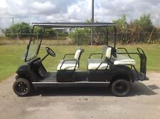 2006 black gas yamaha 6 passenger seat limo golf cart people mover lifted