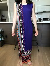 Pleats Please by Issey Miyake Patterned Full Length Dress (Size: 5)