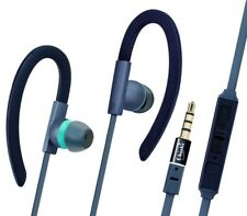 E-books S34 In-Ear Earbuds Headphones with Over-Ear Hooks and Mic Outdoor Sport
