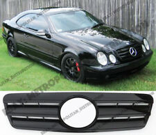 Mercedes w208, c208, 1995-03 Grille Centrale Star, Noir brillant, AMG CLK55; CLK63 Look