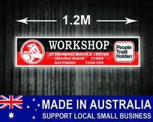Large Illuminated Holden Workshop Sign, man cave, garage, shed, bar, retro