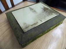 Manchester Town hall photo behind beveled edge glass on Victorian green box