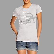Twisted Envy Women's Speed Running Man Rhinestone T-shirt