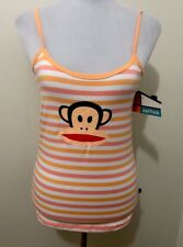 Ladies PAUL FRANK Orange Striped Singlet. Size 14. NWT