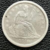 1840 Seated Liberty Dime 10c Rare Date High Grade #13344