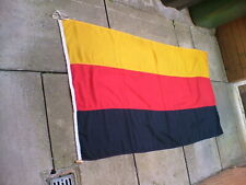 More details for vintage old germany german large stitched linen / cotton flag 6 ft x 3 ft