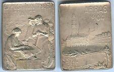 Médaille de table - ARRAS 1904 exposition nord de la France Hippolyte LEFEBVRE