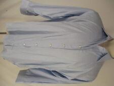 Holland & Sherry Mens Blue Long Sleeve Cotton Dress Shirt 16.5-34
