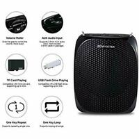 Zoweetek Portable Rechargeable Mini Voice Amplifier With Wired Microphone Black