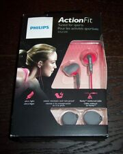 Philips Action Fit Wired Ear Hook Headphones Pink/Gray SHQ1200PK Sports ASIS Y1
