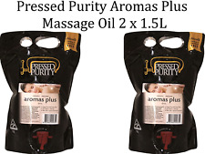 PRESSED PURITY Aromas Plus Massage Oil 3L ( 2 x 1.5 Litre Pack ) Scent Free