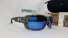 New Costa del Mar Double Haul Polarized Sunglasses Realtree AP Camo/Blue 400G