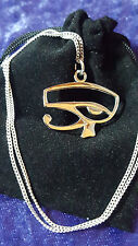 NEW - EYE OF HORUS Ra Pendant Necklace 925 Silver egyptian protection Jewellery