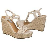 "NEW Women's Steve Madden ""P-Maui""-WAS $70!-size 10.5 Natural-colored Espadrille"