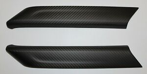 Chevrolet Colorado 2015+ Front Door Trim (2 pcs) - 100% Carbon Fiber Matte