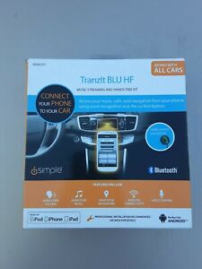 iSimple ISFM2351 TranzIt BLU HF Bluetooth FM Transmitter ☆ OPEN BOX ☆ USED