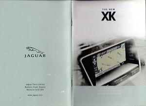 JAGUAR THE NEW XK NAVIGATION SYSTEM HANDBOOK, PUBLICATION PART No.JJM180530652.
