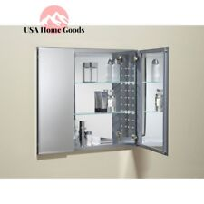 Kohler K Cb Clc3026fs Aluminum Two Door Mirrored Medicine Cabinet