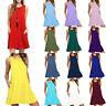 Women Boho Pocket Loose Vest Midi Dress Sleeveless Casual Summer Skirt Plus Size
