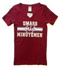 NWT XS Victoria Secret Pink UMASS University of Massachusetts Minutemen T-Shirt