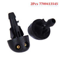 2X Spray Nozzle Wiper Windscreen Washer Fluid Jet For Renault Clio 7700413545KWF