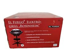 El Fuego Rosenheim Elektrogrill Grill - Schwarz  NEU